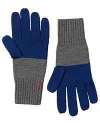 HUNTER - Original Moustache Gloves Slate/deep Cobalt - Lyst