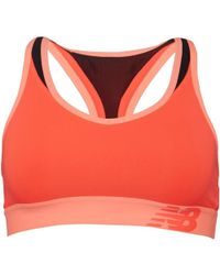 New Balance - Pace Sports Bra Top Vivid Coral - Lyst
