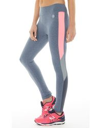 ELLE Sport | Duo Dye Panelled Performance Tight Leggings Carbon/soft Pink | Lyst