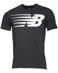 New Balance - Logo Graphic T Shirt Heather Charcoal - Lyst