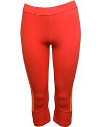 adidas - Techfit Base Climalite Capri Leggings Easy Coral/glow Orange - Lyst