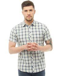Jack & Jones - Brand Short Sleeve Shirt Light Grey Melange - Lyst