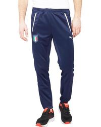 PUMA - Figc Italy Drycell Slim Fit Poly Training Trousers Navy - Lyst