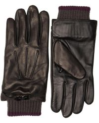 Ted Baker - Calypso Core Leather Gloves With Clip Black - Lyst