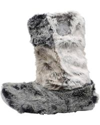 Bedroom Athletics - Florence Patchwork Slippers Grey - Lyst