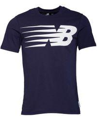 New Balance - Logo Graphic T-shirt Navy - Lyst