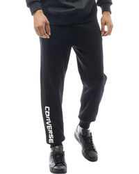 Converse - Mixed Media Sweat Trousers Black - Lyst