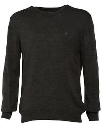 French Connection - Cash Crew Neck Knit Top Charcoal Melange - Lyst