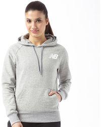 New Balance - Core Fleece Hoodie Athletic Grey - Lyst