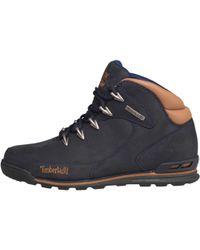 Timberland - Euro Rock Hiker Nubuck Boots Navy - Lyst