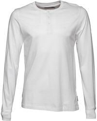 French Connection - Raglan Henleys Long Sleeve Top White - Lyst