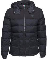 Bench - Wool Look Down Puffer Jacket Black - Lyst