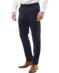 French Connection - Striped Trousers Marine/light Grey - Lyst