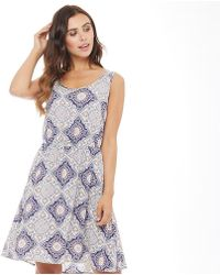 ONLY - Nova Sleeveless Sarah Mandala Print Dress Cloud Dancer/mandala - Lyst