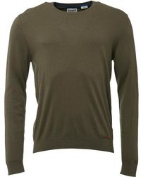 Timberland - Eastham Crew Neck Jumper Oil Green - Lyst