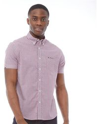 Ben Sherman - Short Sleeve Gingham Shirt Red - Lyst