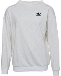 adidas Originals - All Over Print Sweatshirt White/white - Lyst