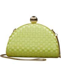 Ted Baker - Kyla Weave Bobble Detail Clutch Bag Mid Green - Lyst