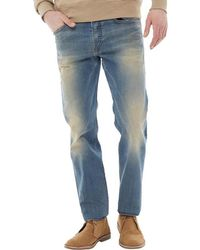 DIESEL - Buster 0845f Tapered Fit Jeans Light Blue Wash - Lyst