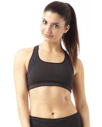 New Balance - Core Medium Impact Sports Bra Top Black - Lyst