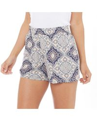ONLY - Nova Mandala Print Shorts Cloud Dancer/mandala - Lyst
