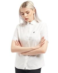 Fred Perry Oxford Short Sleeve Shirt White