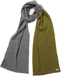 Hunter | Original Moustache Merino Wool Scarf Slate/kelp | Lyst