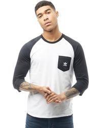 adidas Originals - Skateboarding Word Camo Pocket Long Sleeve T-shirt  Black/white/
