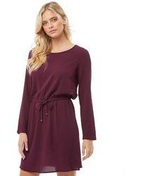 ONLY - Nova Lux Draw String Dress Port Royal - Lyst