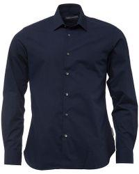 French Connection - Formal Plain Cut Shirt Marine - Lyst