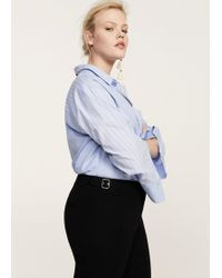 Violeta by Mango - Decorative Buckle Trousers - Lyst
