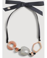 Mango - Mixed Bead Necklace - Lyst