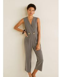3a5611fb8386 Forever 21 Buttoned-front Romper in Green - Lyst
