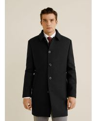 Mango - Wool Tailored Coat - Lyst