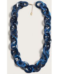 Violeta by Mango - Link Circle Necklace - Lyst