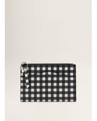 Mango - Gingham Check Cosmetic Bag - Lyst