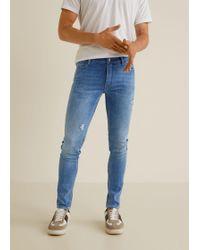 Mango - Skinny-fit Light Wash Dylan Jeans - Lyst
