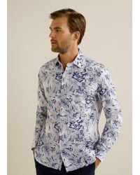 Mango - Slim-fit Tropical Print Shirt - Lyst
