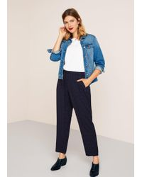 Violeta by Mango - Printed baggy Trousers - Lyst