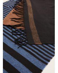 Mango - Tricolor Striped Scarf - Lyst