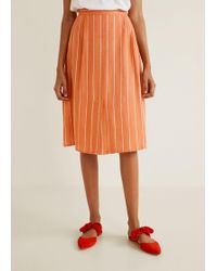 Mango - Flowy Striped Skirt - Lyst