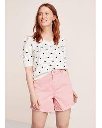 Violeta by Mango - Pink Denim Shorts - Lyst