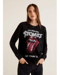 Mango - Rolling Stones Sweatshirt - Lyst