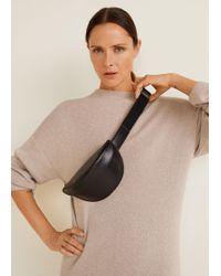 Mango - Leather Bum Bag - Lyst
