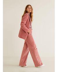 Mango - Corduroy Straight Trousers - Lyst