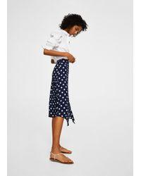 Mango | Polka-dot Asymetric Skirt | Lyst