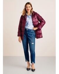 Violeta by Mango - Quilted Feather Coat - Lyst