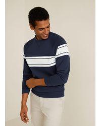 0912a9e72 Lyst - Mango Cotton Contrast Panels Sweatshirt in Blue for Men