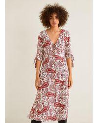 Mango - Flowy Dress - Lyst