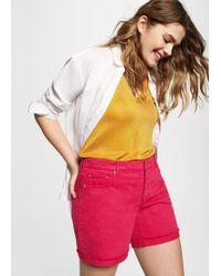 Violeta by Mango - Color Denim Shorts - Lyst